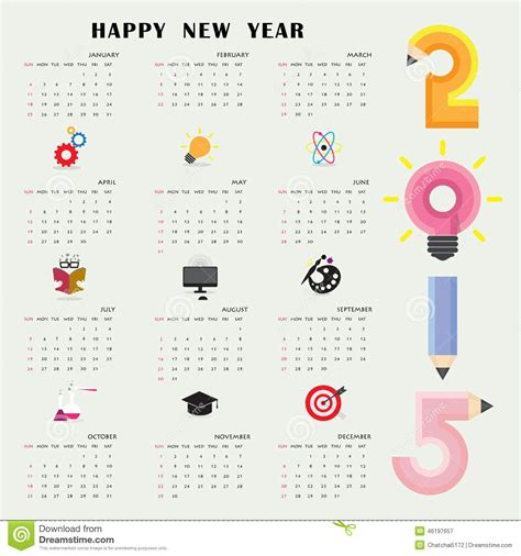 Creative Calendar Template creative calendar 2015 design template with business or educatio stock vector image 46197657