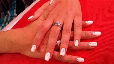 Photo Manucure Avec Strass by Ongles Blancs Strass Images