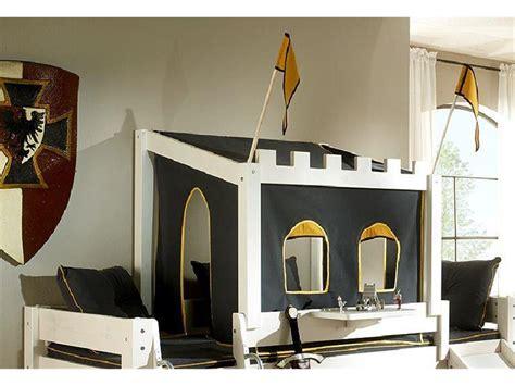 vorhänge ohne bohren schlafzimmer wohnwand mit bett
