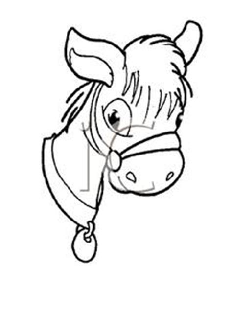 donkey head coloring page clipart image coloring page of a donkey s head