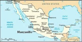 west coast mexico map