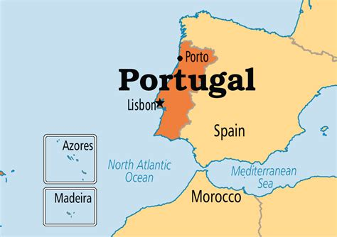 map of azores portugal