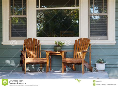 Row Home Decorating Ideas two adirondack chairs porch stock image image 16661451