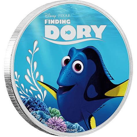 Disney Pixar Finding Dory 2016 5 oz niue silver finding dory proof 5 coin sets l jm