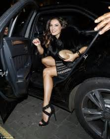 Wardrobe Getting Out Of Car by Brook Shows Hourglass At Cosmopolitan