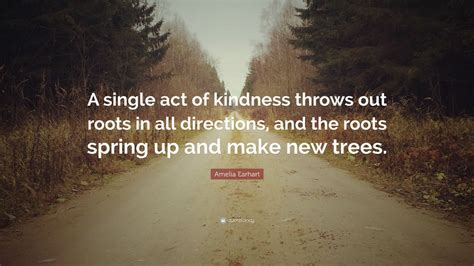 amelia earhart quote  single act  kindness throws