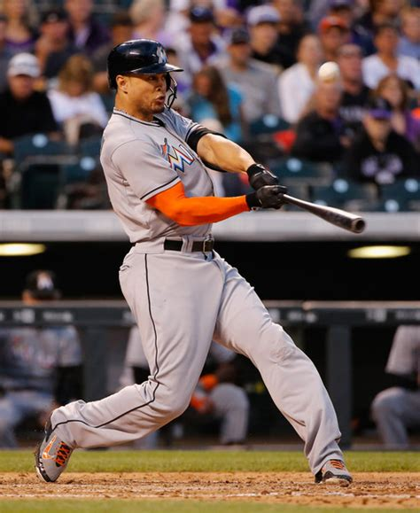 giancarlo stanton swing giancarlo stanton s coors field bomb becomes his newest