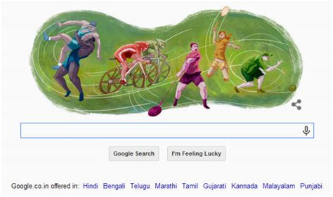 doodle for india 2014 results glasgow 2014 commonwealth doodle is