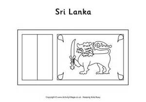 sri lanka flag colouring page