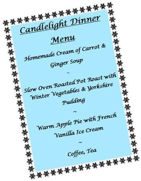 Candle Light Menu by Enrichment Ottawa Grace Manor