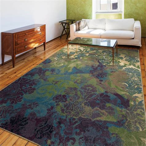 Funky purple and green area rugs various designs featured