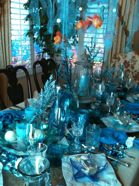 blue themed events make it delightful beach themed party