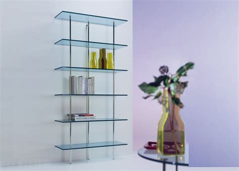 trasparenza glass bookcase wall unit glass furniture