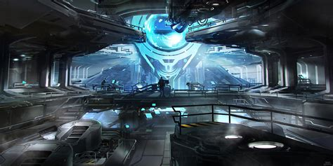 wallpaper engine halo unsc infinity s engine room concept art by sparth of 343