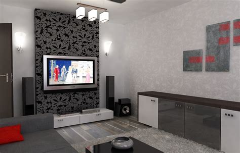 Wohnzimmer Rot Grau by Bilder 3d Interieur Wohnzimmer Rot Grau 4