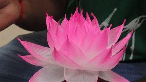How To Make Paper Lotus Lantern - lotus lantern workshop
