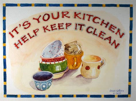 keep kitchen clean cups and bowls wetcanvas