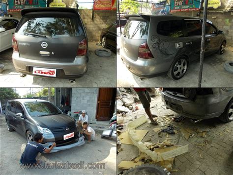 Cermin Belakang Nissan Grand Livina nissan grand livina pembuatan bodykit add on custom