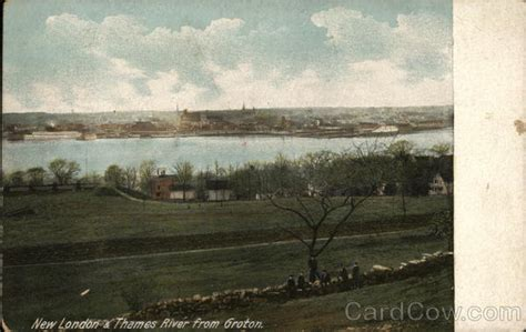 new london thames river new london thames river from groton postcard