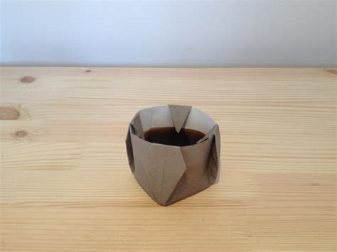 Origami Coffee Cup - the editorial origami coffee the blogazine