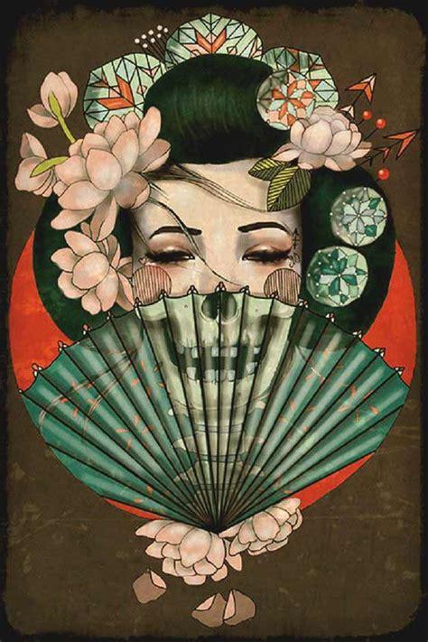 tattoo geisha skull 50 amazing geisha tattoos designs and ideas for men and women