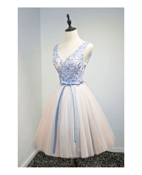appliques for dresses special ball gown v neck short tulle homecoming dress with