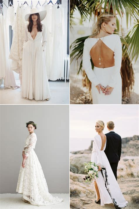 modern wedding dresses  minimalist brides