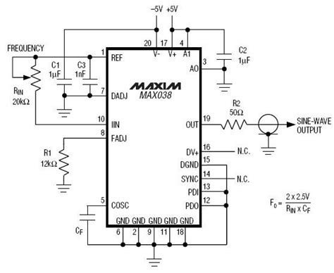 integrated circuit precision waveform generator high frequency generator circuit