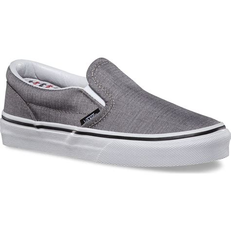 Jual Vans True White vans classic slip on suiting stripes youth shoes