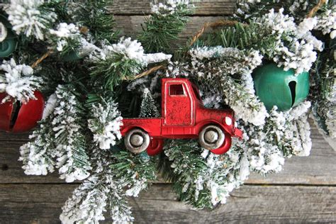 red christmas vintage pick ups for sale vintage truck wreath a pretty in the suburbs