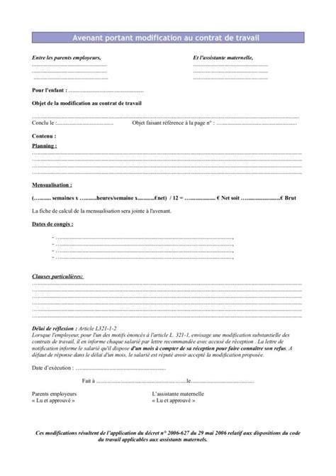 Exemple Avenant Transfert De Contrat De Travail T 233 L 233 Charger Modele Courrier Transfert Contrat De Travail