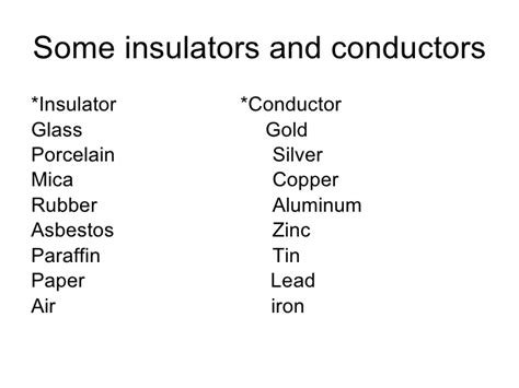 list of electrical conductors list 3 electrical conductors 28 images electrical conductors and insulators what are