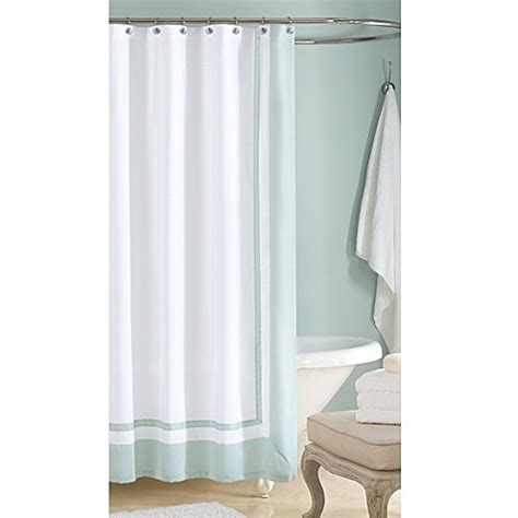 wamsutta shower curtain wamsutta 174 hotel shower curtain in aqua bed bath beyond