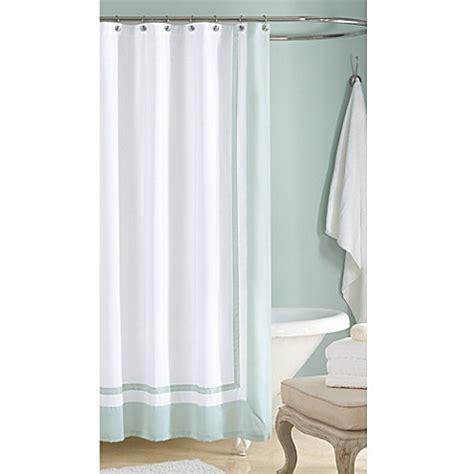 Wamsutta 174 hotel shower curtain in aqua bed bath amp beyond