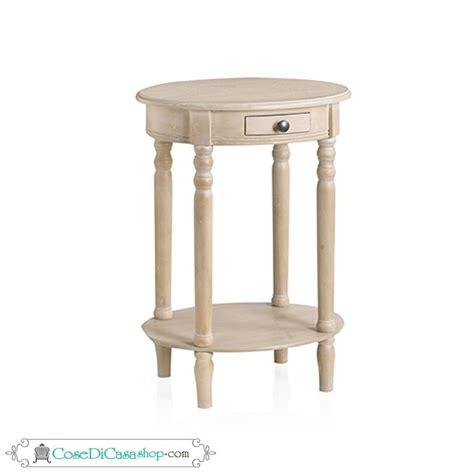 comodino ovale tavolino comodino ovale quot olivier quot con ripiano color