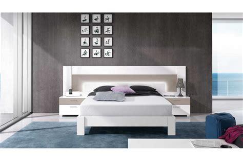 Lit 2 Personnes Blanc by Lit Moderne 2 Personnes Blanc Et Basalte Trendymobilier