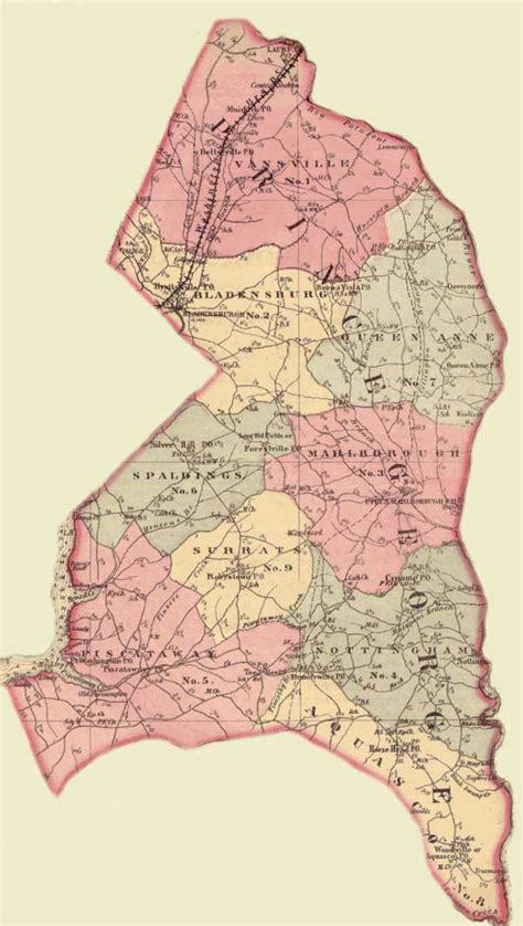 Pg County Search Prince George S County Simon J Martenet Martenet S Atlas Of Maryland 1865