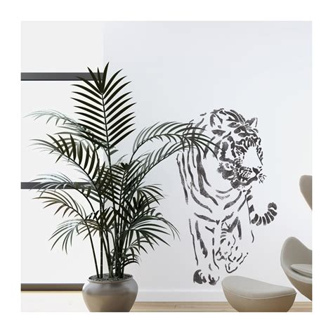 wall template stencils wall stencils tiger large stencil template for wall