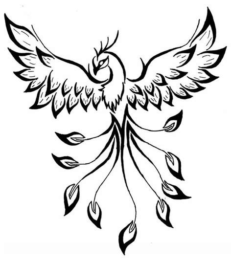ancient style cool black ink phoenix tattoo tattoos photos