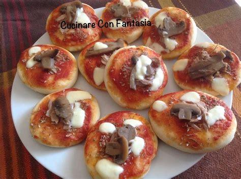 cucinare con fantasia pizzette da cucinare con fantasia