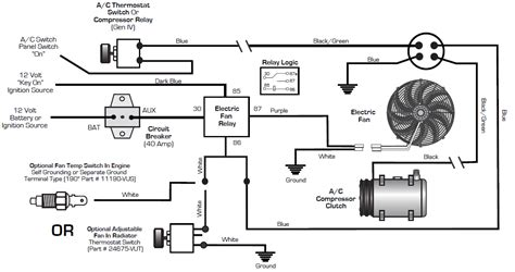 compressor relay wiring diagram compressor start relay