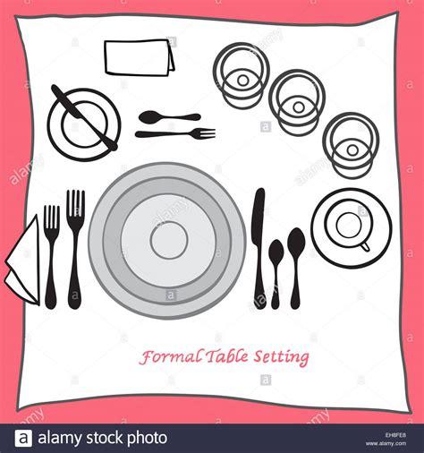 Dining Table Setting Proper Arrangement Of Cartooned Cutlery Arrangement On Dining Table