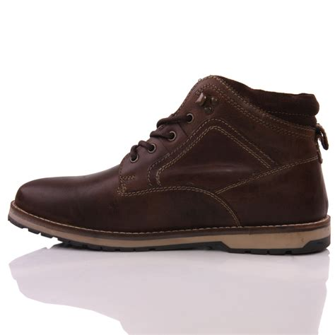 unze mens reelan laced up smart winter boots uk