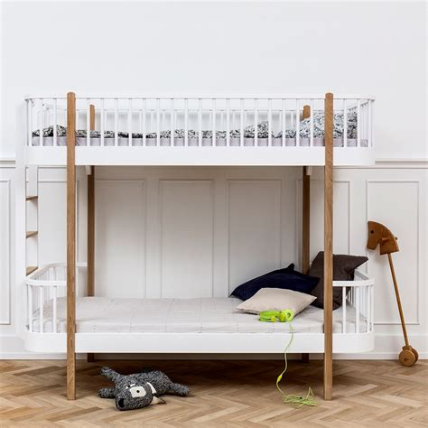 white timber bunk beds childrens luxury bunk bed in white oak bunk beds