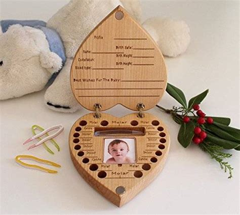 Handmade Gifts Uk - baby tooth box baby shower gifts baby gift baby shower new