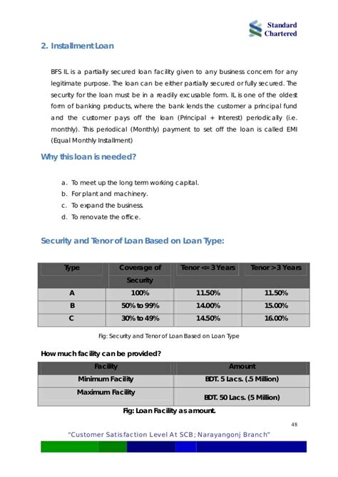 Standard Chartered Letter Of Credit Analyzing Customer Satisfaction Level At Standard Chartered Bank