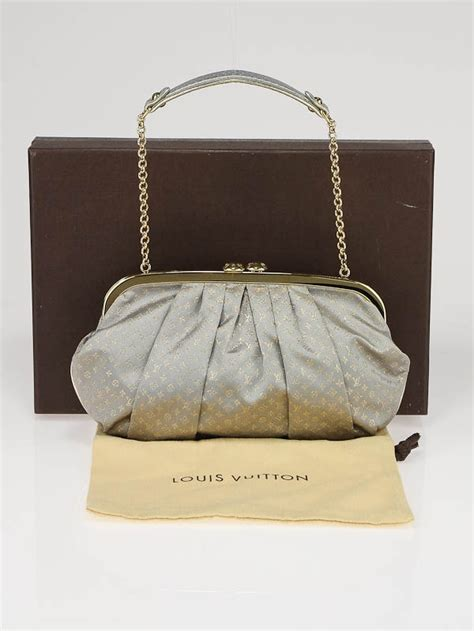 louis vuitton limited edition silver monogram satin