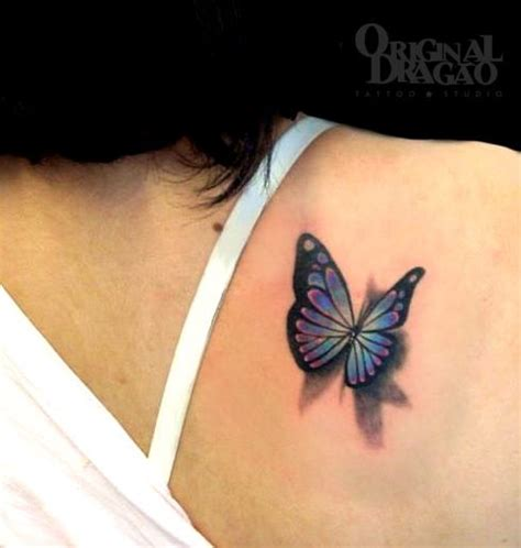 butterfly tattoo on girl s shoulder 85 3d butterfly tattoos