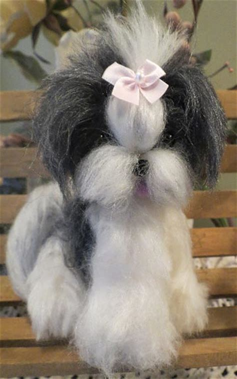 shih tzu hair products shih tzu black and white hair by designs by at the shoppe