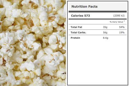 carbohydrates popcorn calories in stadium popcorn stadium food calories